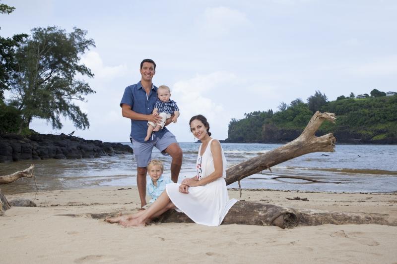 Kauai Beach Family Portrait-0909