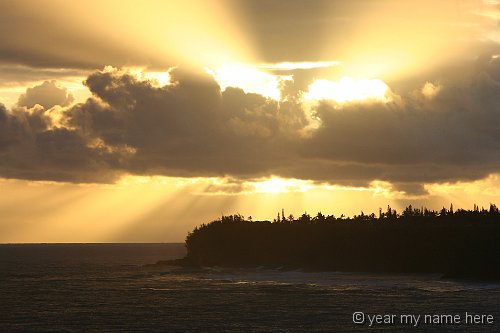 Sunburst over Princeville Point 2721_1