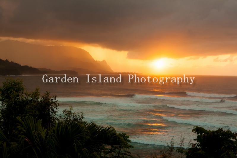 Princeville Point Sunset 3093